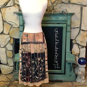 Vintage 90's Vivienne Tam Egyptian Print Skirt